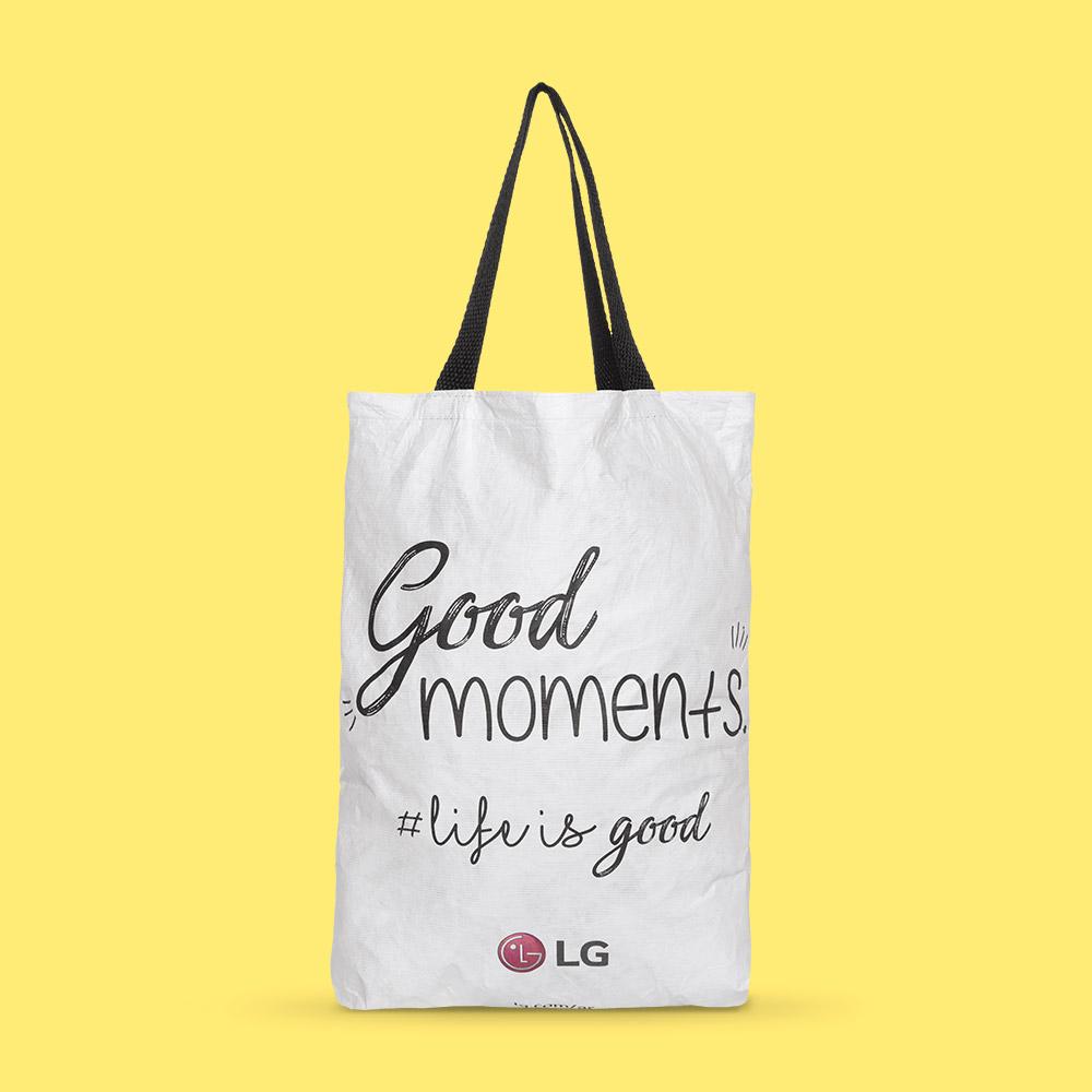Bolsa con manijas LG en Tyvek®