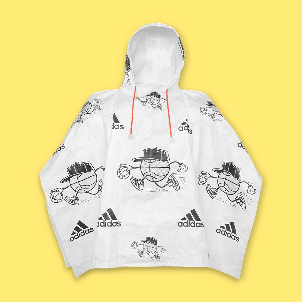 Capa de lluvia Adidas en Tyvek®